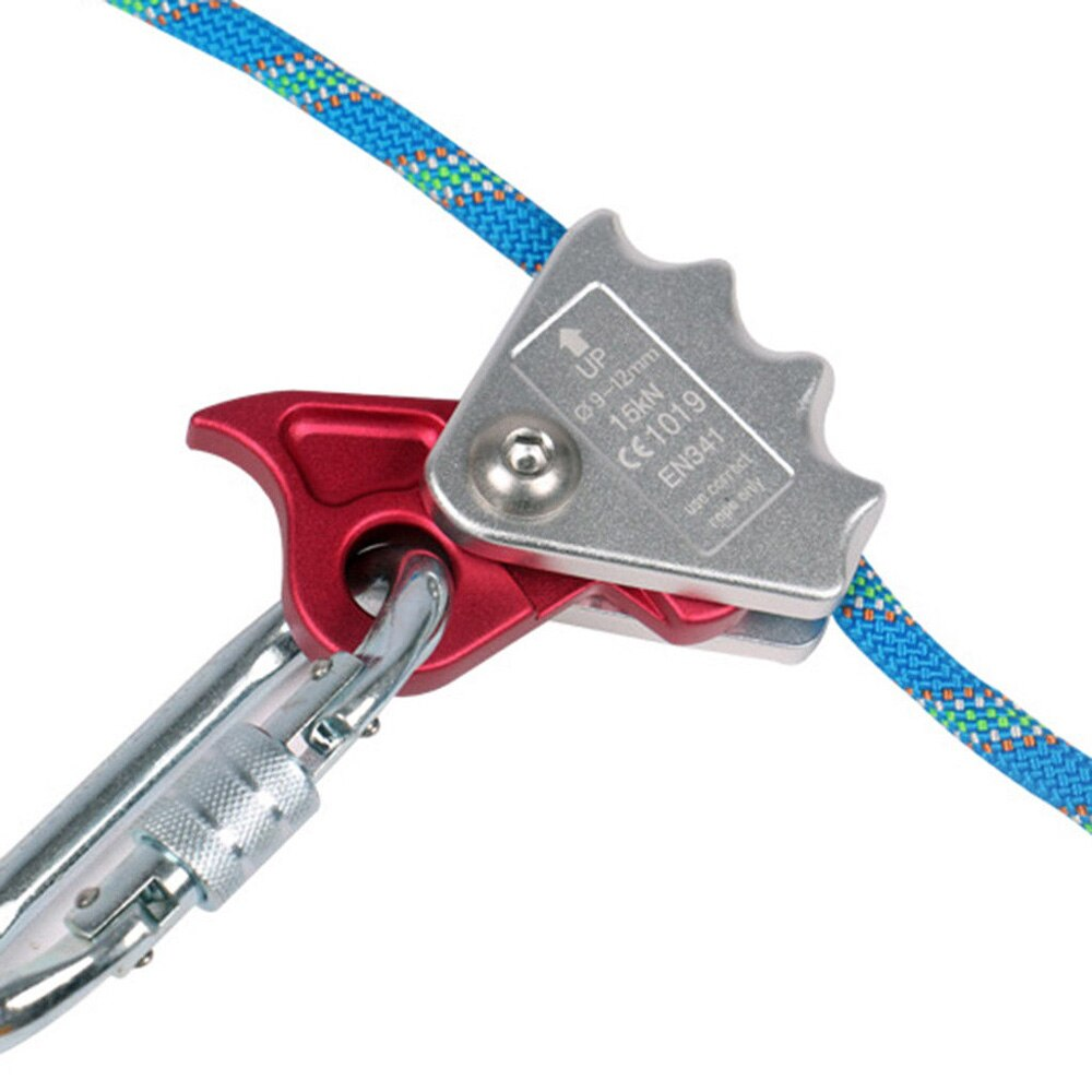 15KN Outdoor Heavy Duty Rock Tree Arborist Mountaineering Rock Climbing Rope Grab Protecta Equipment for 9mm-12mm Rope