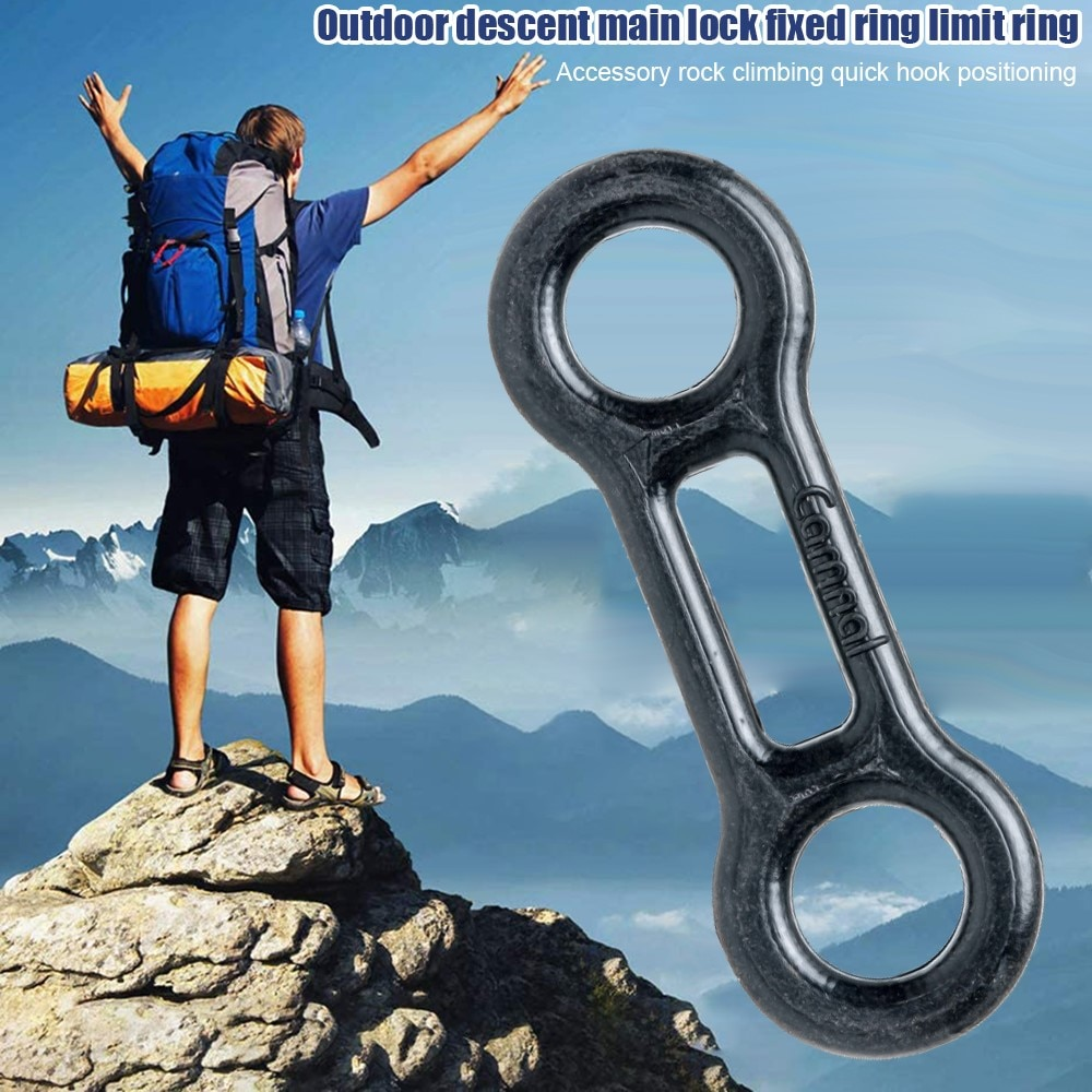 CAMNAL Outdoor Rock Climbing Carabiner Locking Tool Limit Ring Rigging Fixing Outdoor Climbing Safety Equipment For Backpack