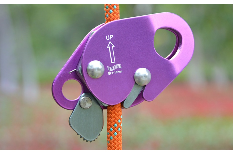 XINDA Camping Rock Climbing Safety Equipment Grasp Rope Devices Automatic Lock Karabiner Anti Fall Protective Gear Survival