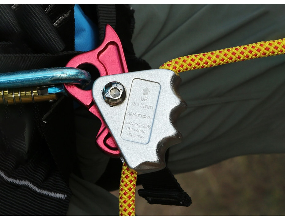 XINDA Self-lock Equipment High-altitude ToolsGrasp Rope Devices Automatic Lock Karabiner Anti Fall Protective Gear Survival
