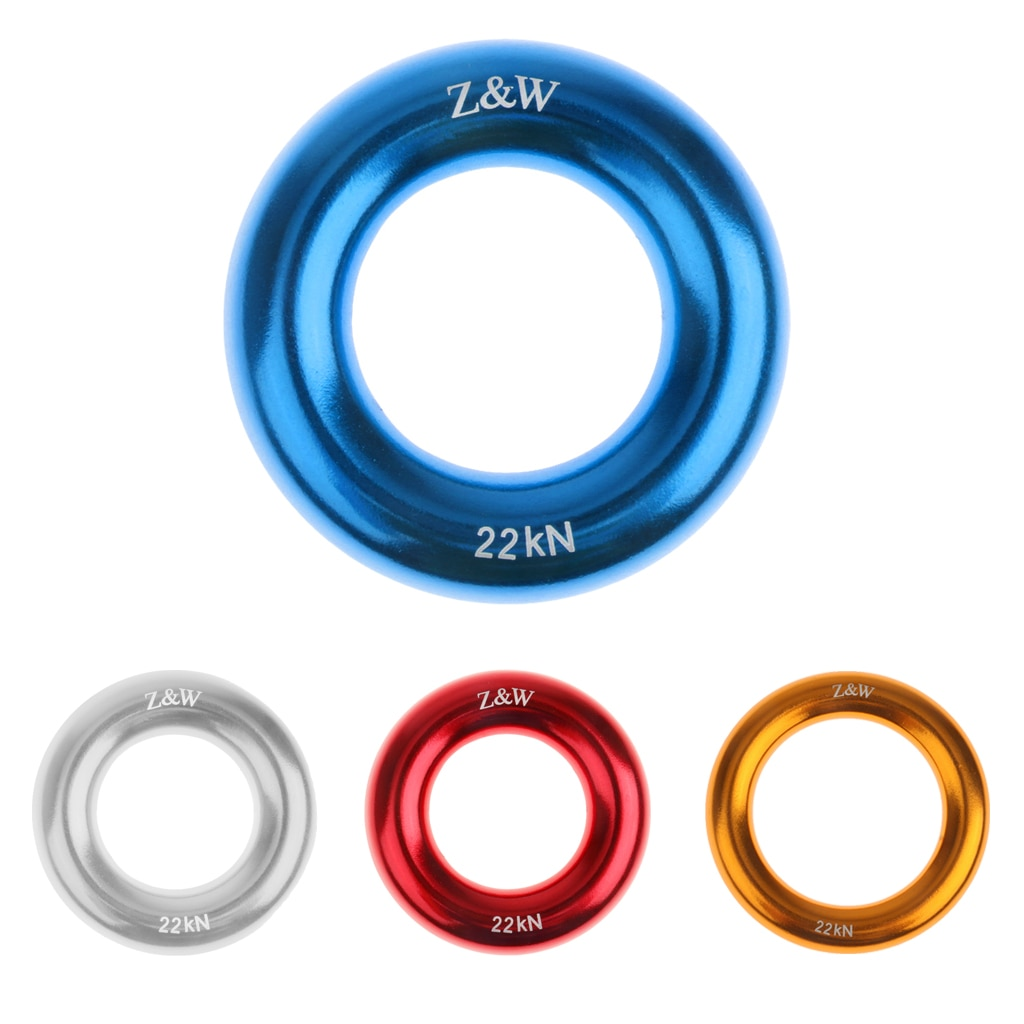 22KN Aluminium-Magnesium Alloy Rock Climbing Rappel Ring Bail-Outs Rigging Equipment 5cm Hiking Travel Kits Sports Accessories