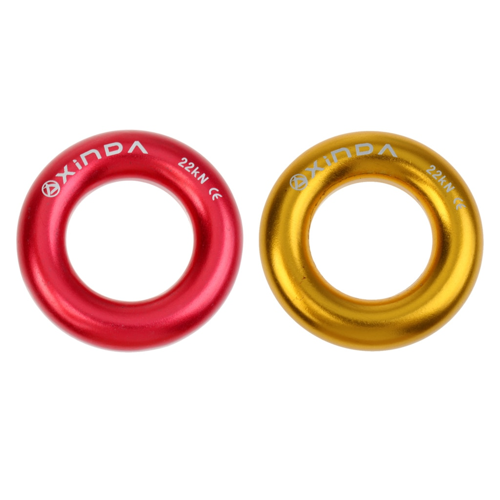 MagiDeal Hot Sale 22KN Aluminum Rappel Ring Bail-Out Rappelling Rigging Climbing  Caving Survival Equipment Travel Kits