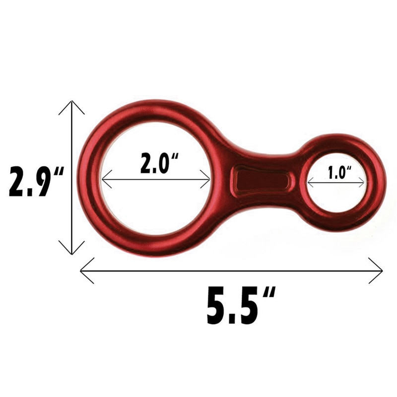 Outdoor aluminum alloy climbing 8 word loop 30KN lifting ring descender rope ring equipment rigging rappelling equipment