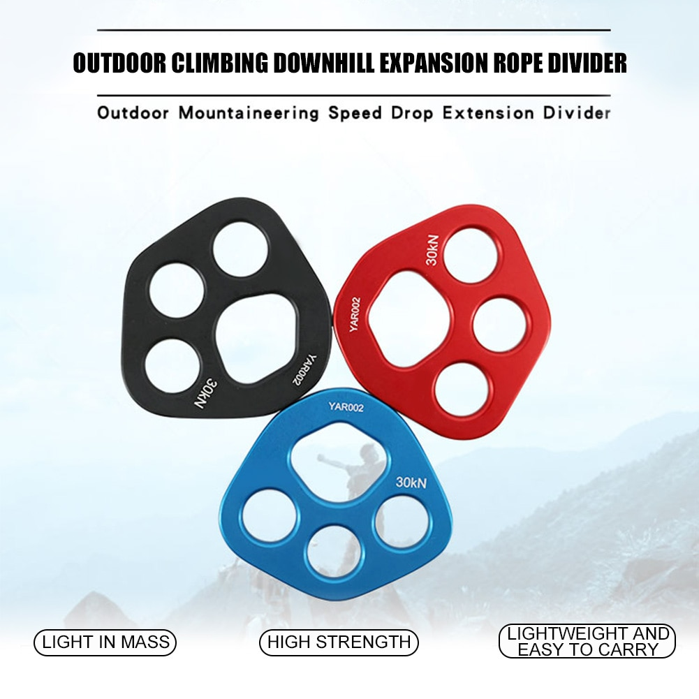 Climbing Splitter Board Portable Rigging Plate Aviation Aluminum Hiking Outdoor Sports Professional Solid 4 Holes Durable