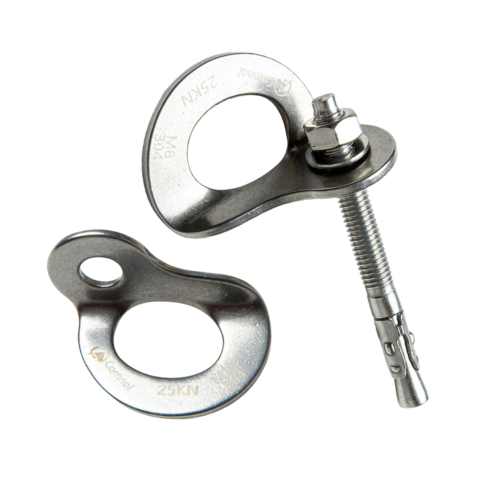 Rock Climbing Caving 25KN M10 Anchor Bolt Hanger Plate Stainless Steel for Belay  Mountaineering Rigging Device