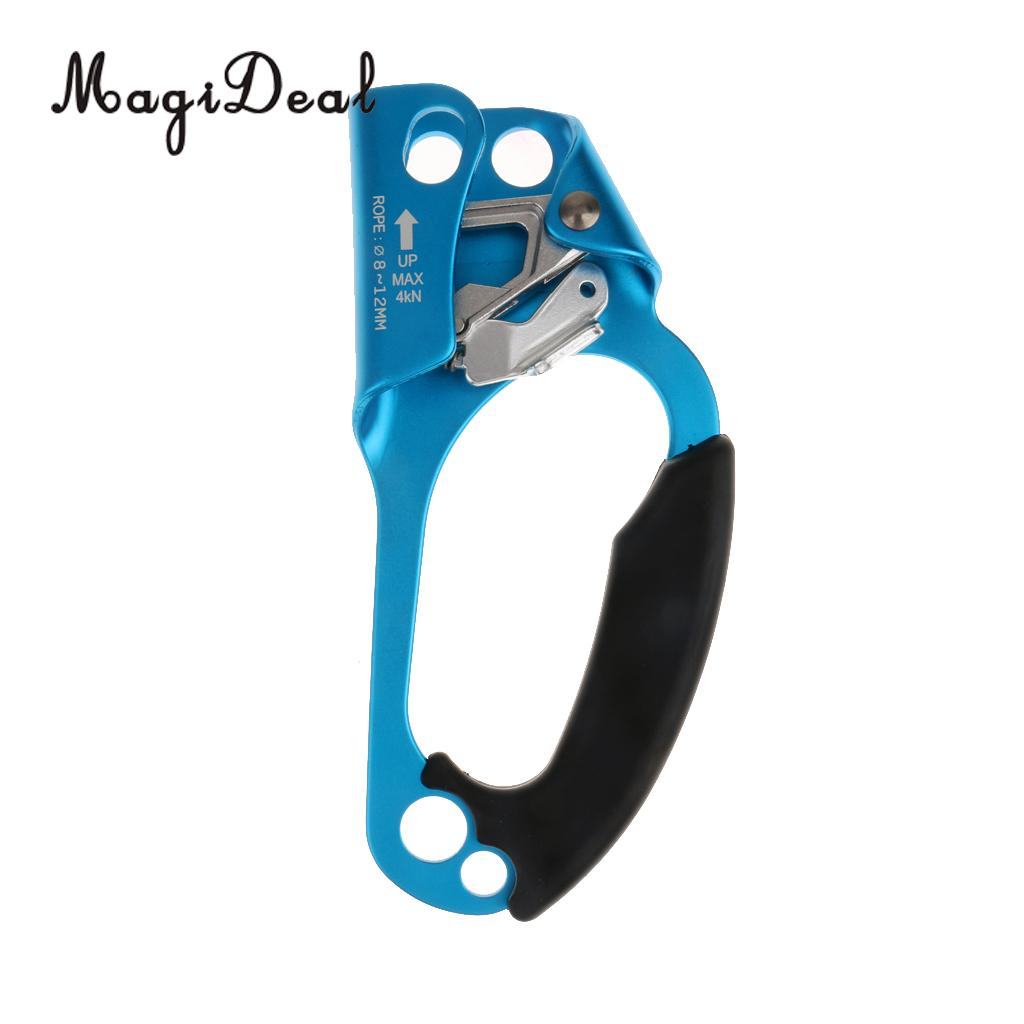 Rock Climbing Right Hand Ascender for 8-12mm Rope Clamp Mountaineering Equipment Men Women Outdoors