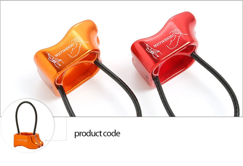 downhill cable descent device climbing equipment Outdoor high-altitude descent device high-rise descent device ATC protector