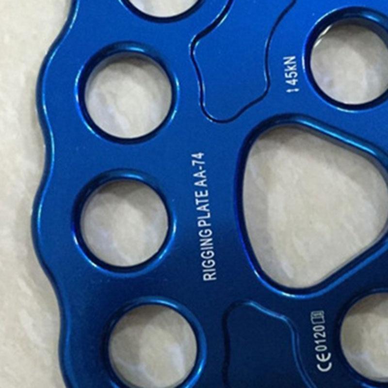 8 Holes Rigging Plate Outdoor 45KN Rescue Rock Climb Rescue Climbing Equipment Mountaineer Anchor Connector Gear