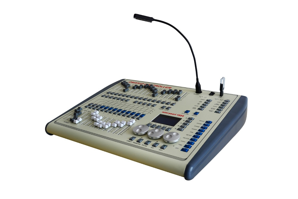 IMRELAX Professional DMX Controller 1024 Channels Mini Pearl DMX Console with Flight Case Package