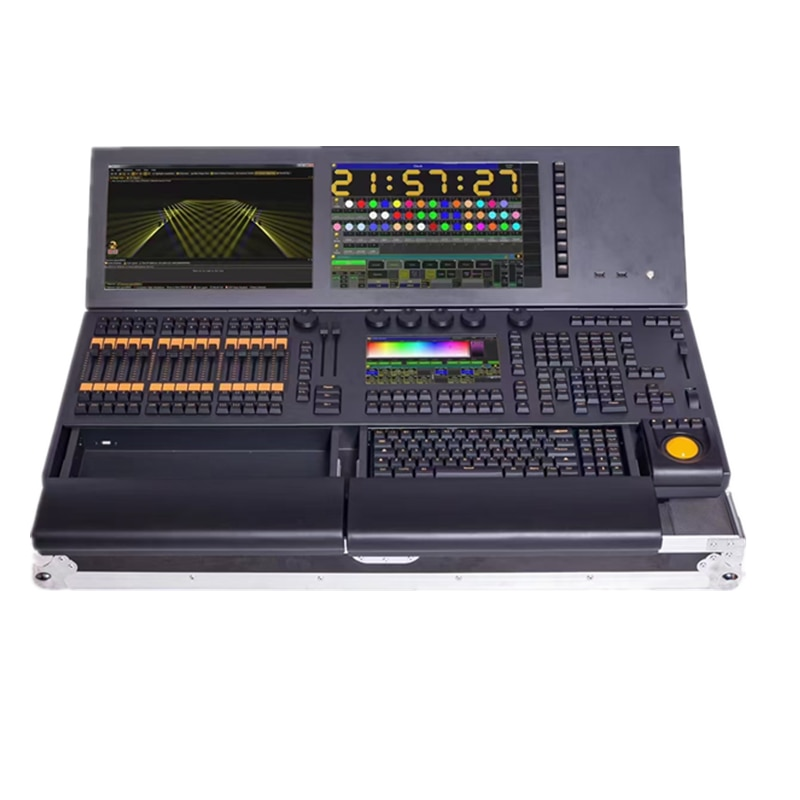 Free Shipping Grand ma2 console DMX512 DJ stage light effect machine controller 2touch screen with flycase