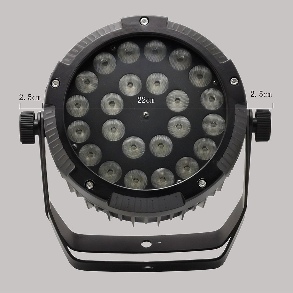 4 Pieces IP65 Waterproof Led Par Light 24x18w RGBWA UV 6in1 24x12w RGBW 4in1 DMX512 Full Color Dyeing Light