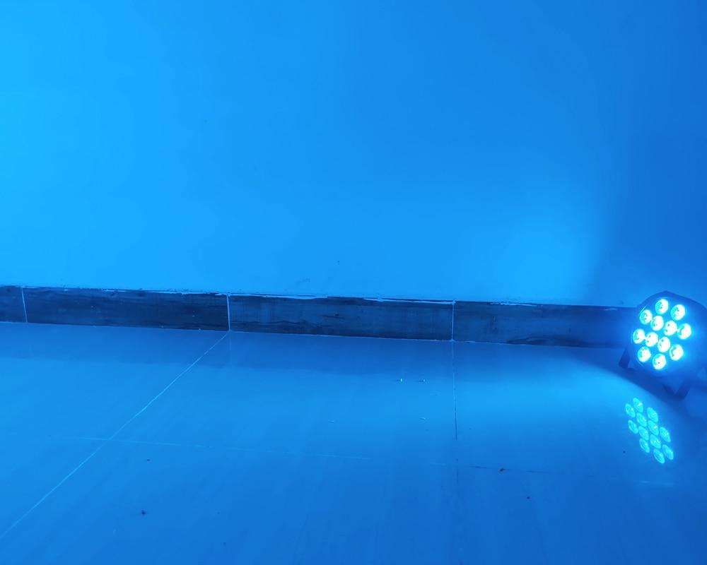 8pcs/lot led par 12x18w rgbwa uv 6in1 dmx wash light led par 12x12w rgbw dmx professional par light for dj