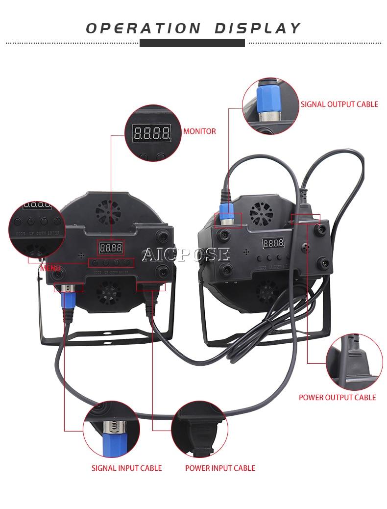10pcs/lots Remote Control 12x12W Led Par Lights RGBWA UV 6in1 Flat Par Led Can Par 64 Led Bar Light DJ Wedding Light Stage Light