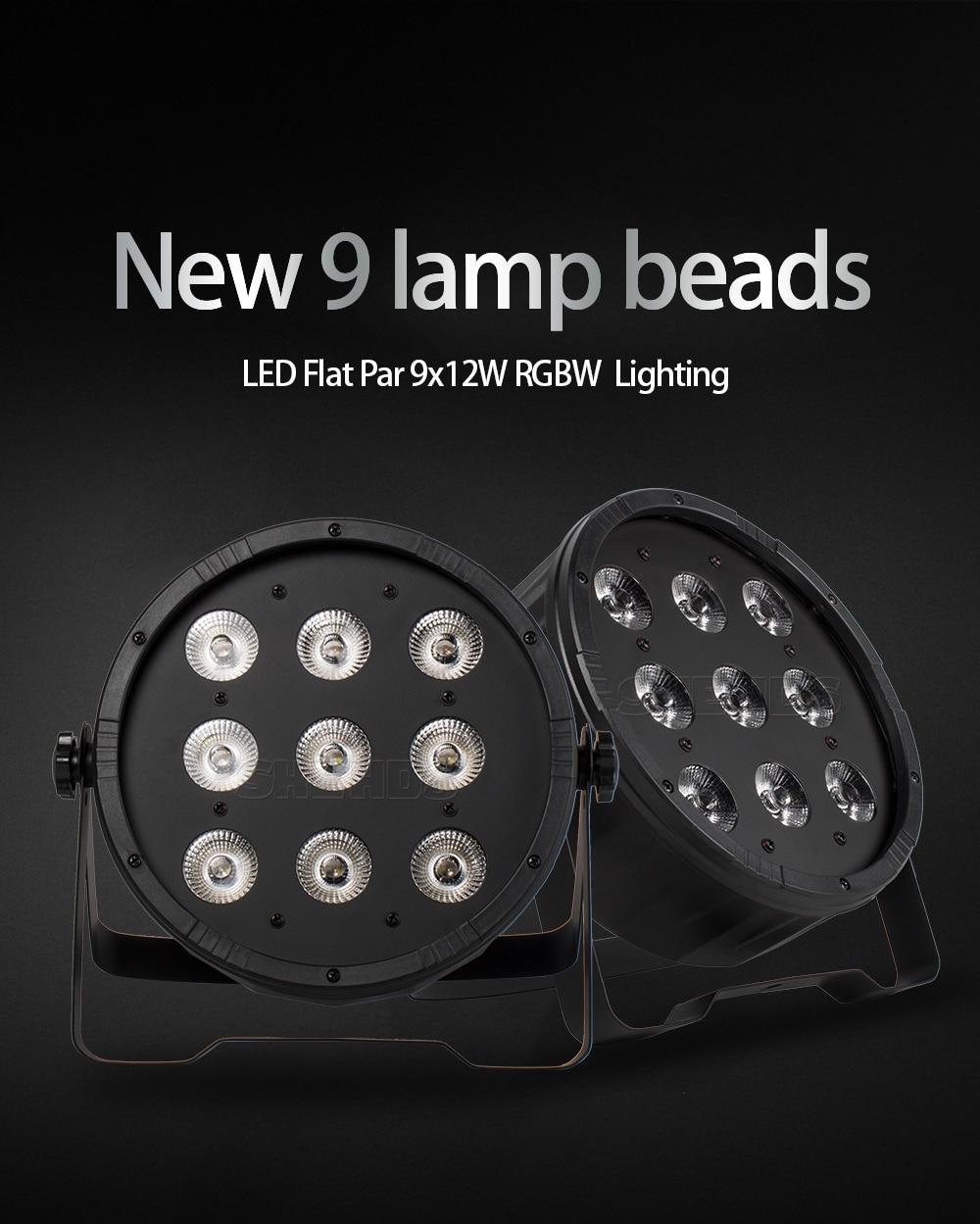 Flight Case With 16 Pieces LED Fat Par 9X12W LED Light RGBW 4IN1 LED Light Stage DJ Light DMX Led Par Party Lights