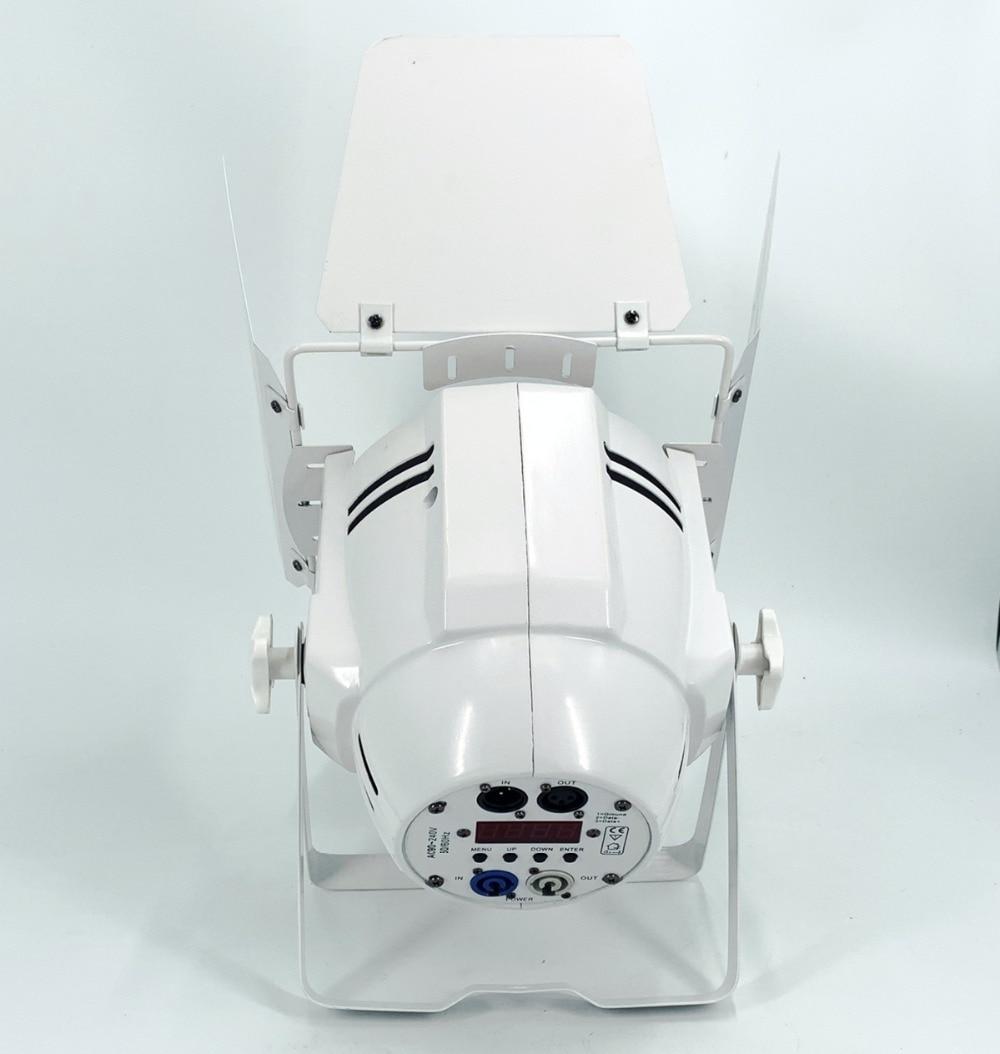 4X 200W led par COB flight case dmx cable  RGBWA UV  4in1/RGB 3in1/ Warm White Cold white led  spotlight dj light Dmx controll