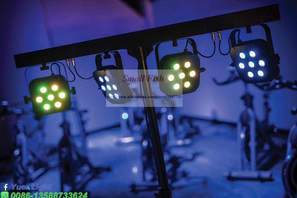 LED Flat Slim Par kit High Power 7x10W 4IN1 LED 4 Par Light Set 4in1 RGBW Mini Laser Stage DJ Disco Sound Strobe DMX Party Light