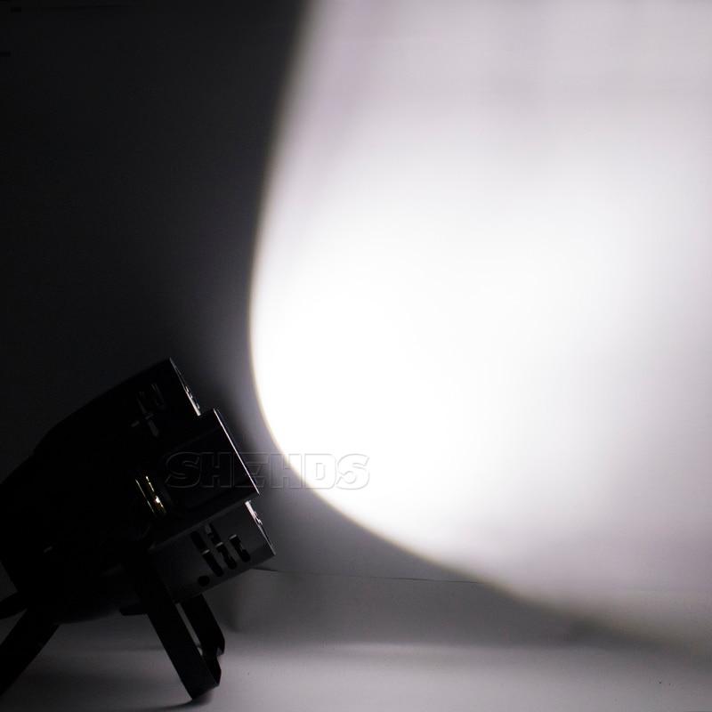 2pcs LED 100W COB Par Light RGBWA+UV 6in1 Dj Stage Effect Lighting Wedding Church Restaurant Bar DMX512 Warm+Cold White SHEHDS