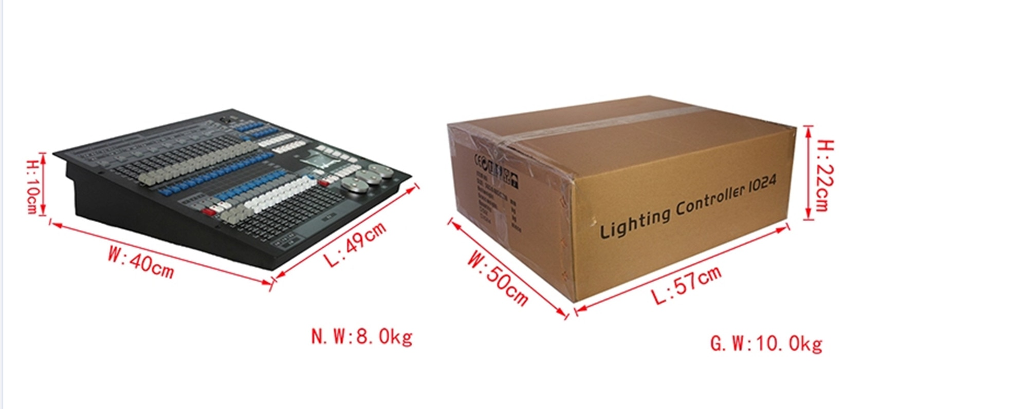 1024 DMX Console With Flight Case DJ Controller Suitable for Moving Head Light Par Light Series Stage Light Equipment