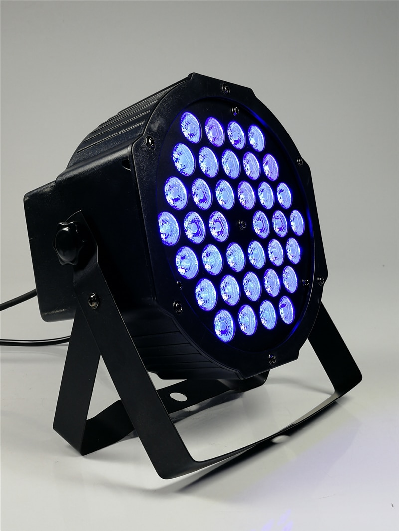 8 pieces 36x3w Full Color Led Par Light rgb 3-in-1 dmx512 Flat Par Light Par Led Lights Profession disco dj equipment