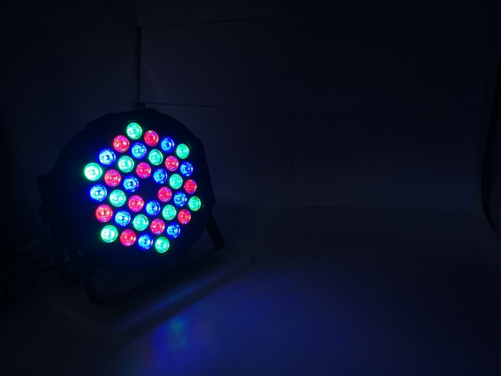 10Pcs/Lot LED Flat Par 36x3W RGB 3IN1 Lighting Professional LED Stage Lights Effect DMX512 Master-Slave DJ Disco Party Wedding