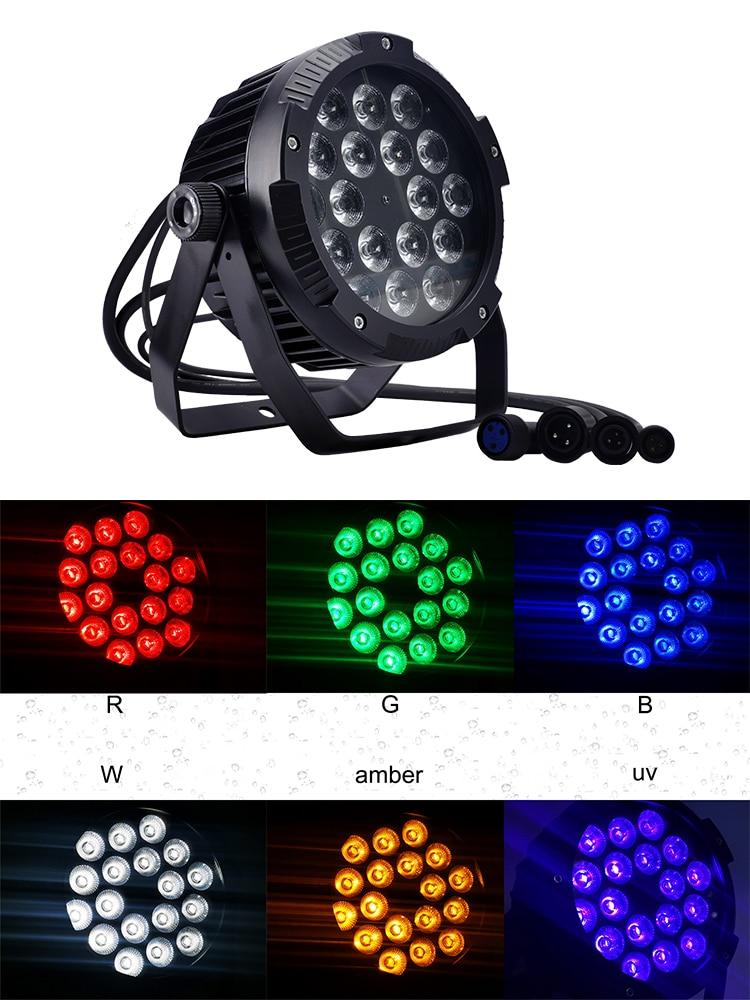 18x18w IP65 Waterproof Led Par Light RGBWA UV 6in1 Led Wall Washer Outdoor Dj Par Light Stage Light