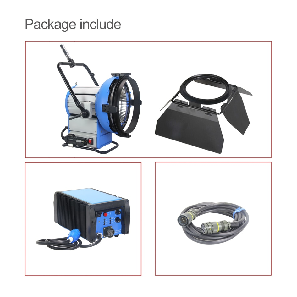 ALUMOTECH Pro Film HMI M18 Par Light+1800W&1200W Electronic Ballast Flicker-Free+7m Cable Light Kit For Photography Studio Video