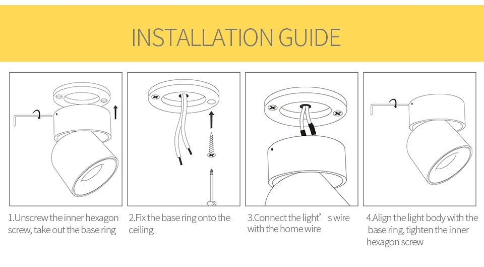 Aisilan Led  Surface Mounted Ceiling Downlight Adjustable 90 degrees Nordic Spot light  for indoor Foyer,Living Room AC 90-260V
