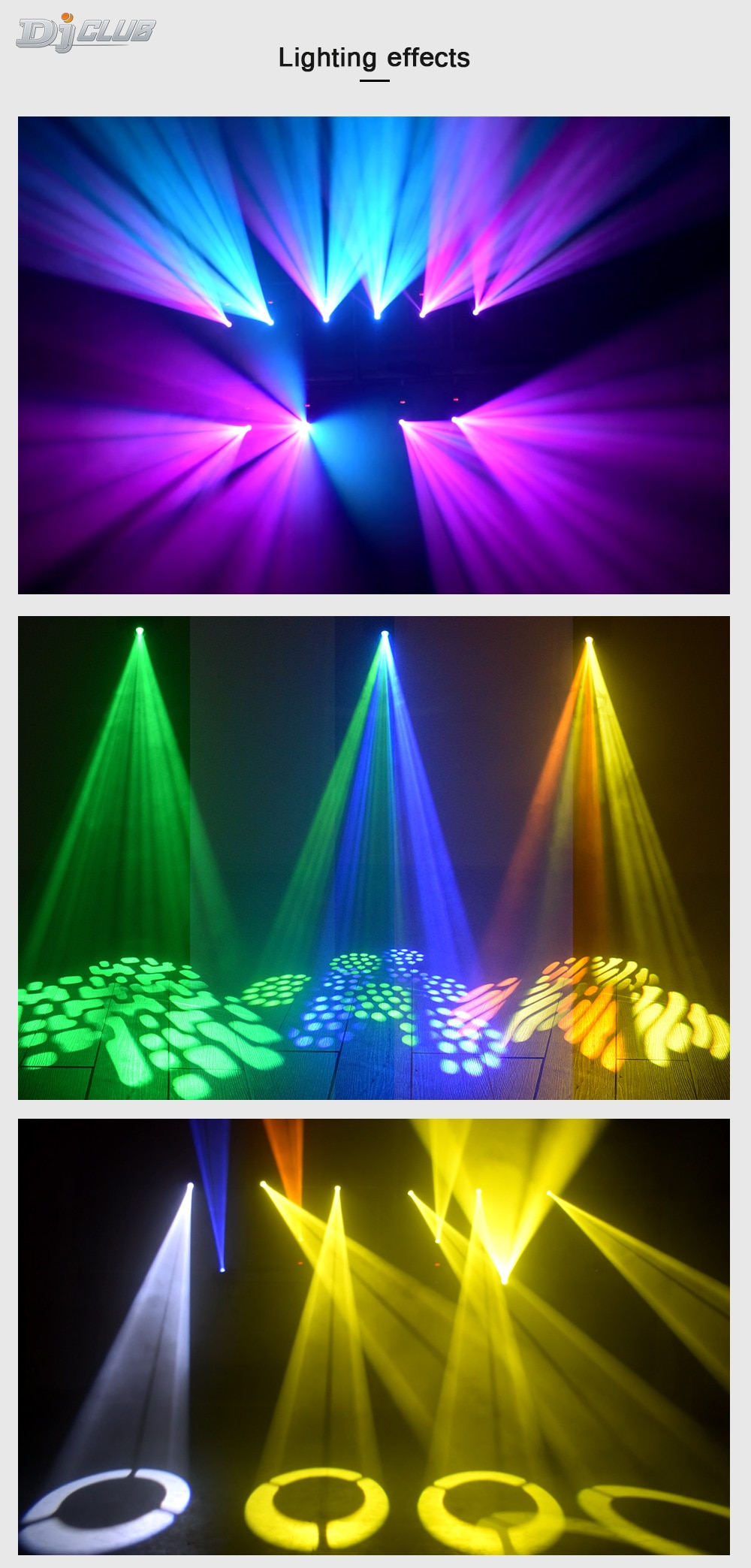 Lyre Led 60W Moving Head Hybrid Mini Spot Dj Light Of High Quality With 3 Face Prism Dmx-512 For Stage Party Lighting