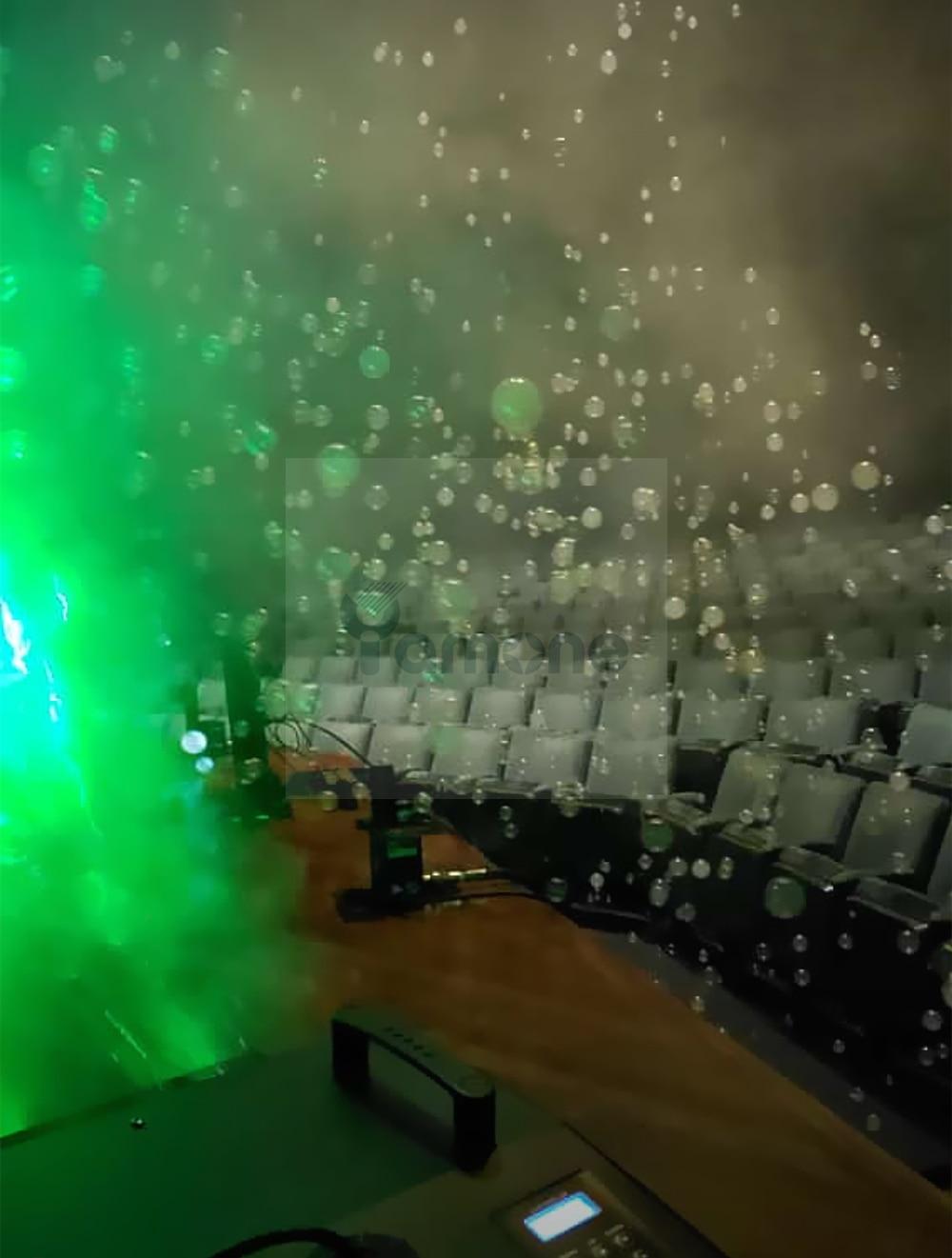 2pcs/Lot 1500W DMX Control RGB Led Bubble Machine With Fog Smoke For Wedding Party 12x3W LED Fogger Maker Machine Bubble Blower