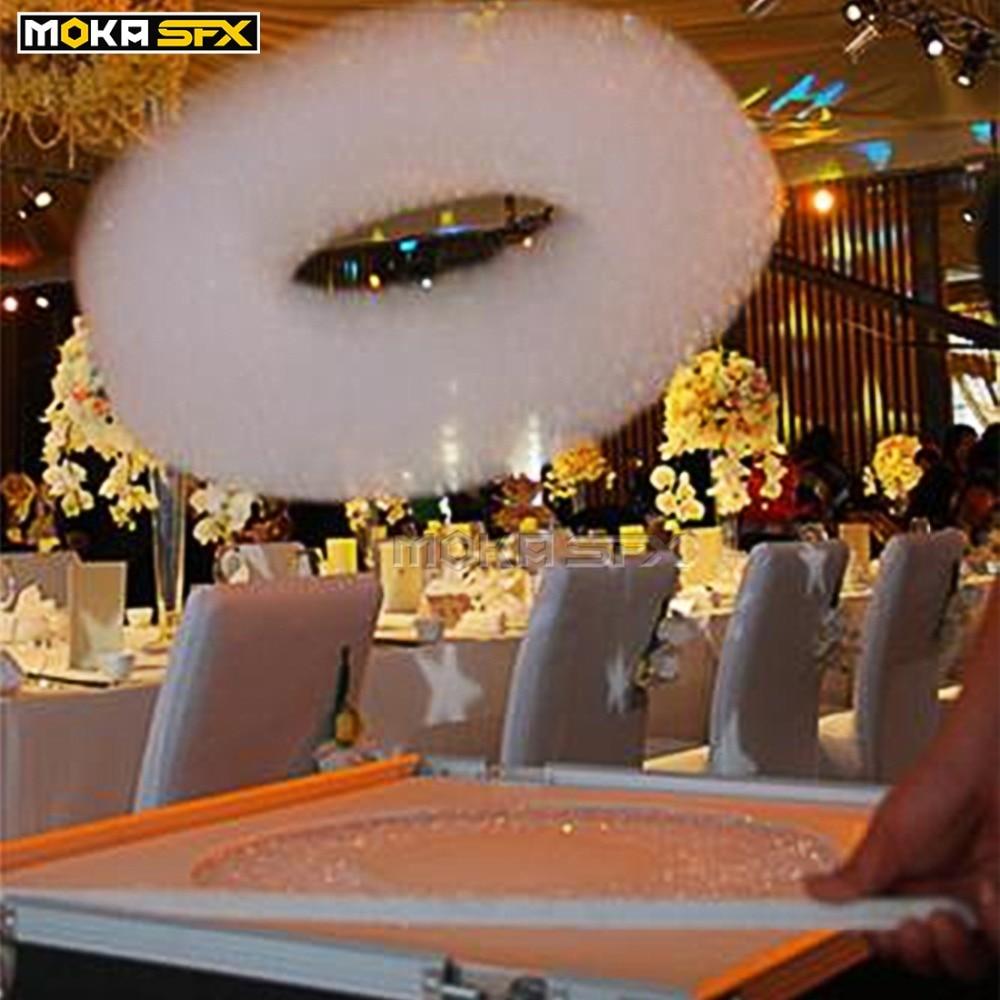Stage Cloud Maker Machine Colorful Foam Bubble Machine Manual Control Flight case Packing Helium Foam machine for Wedding party