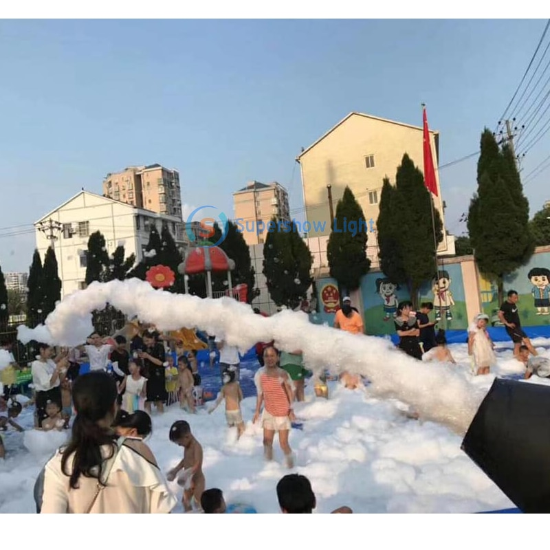 2500W Jet Foam Machine Party High Power Bubble Blower Machine Power Control Stage Effect Equipment Outdoor Events