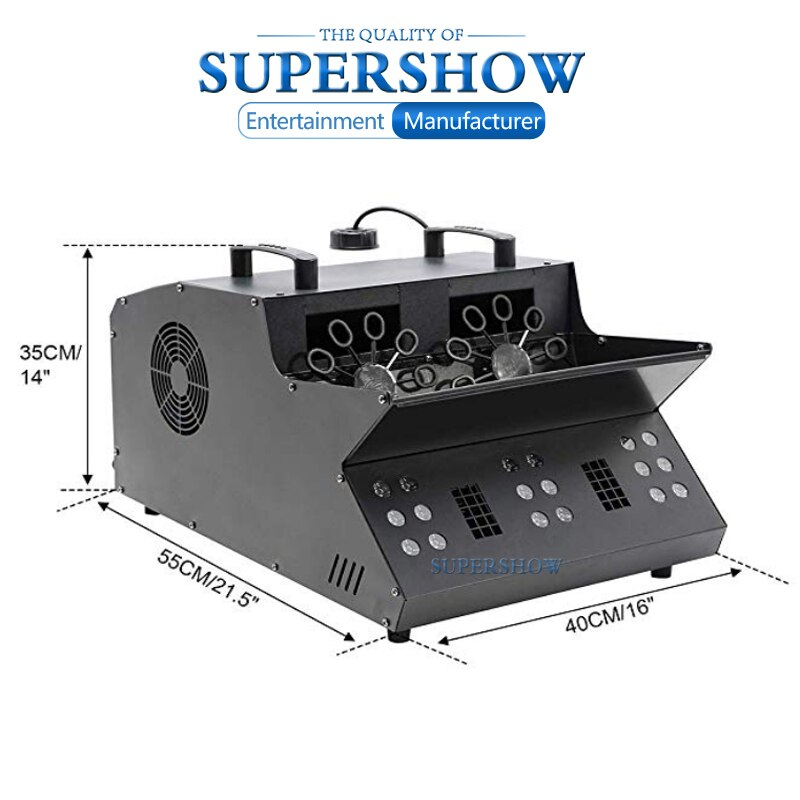 1200W DMX remote control LED fog smoke bubble machine for wedding party stage effects
