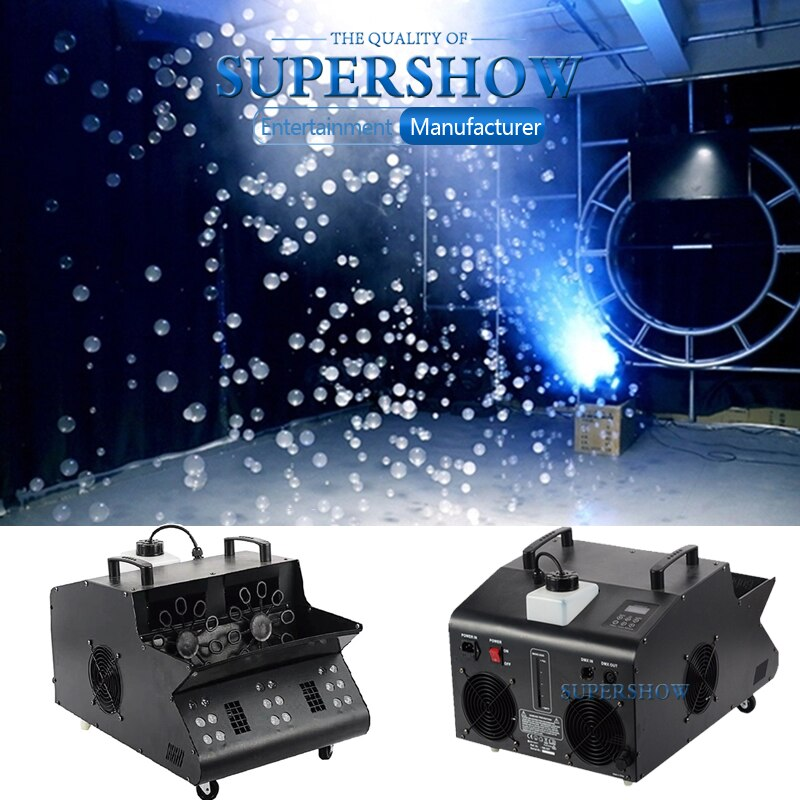 2000W DMX Control 18x3W RGB LED Bubble Big Led Fog Bubble Machine For Wedding Party Large Bubble Stage Effect Performance