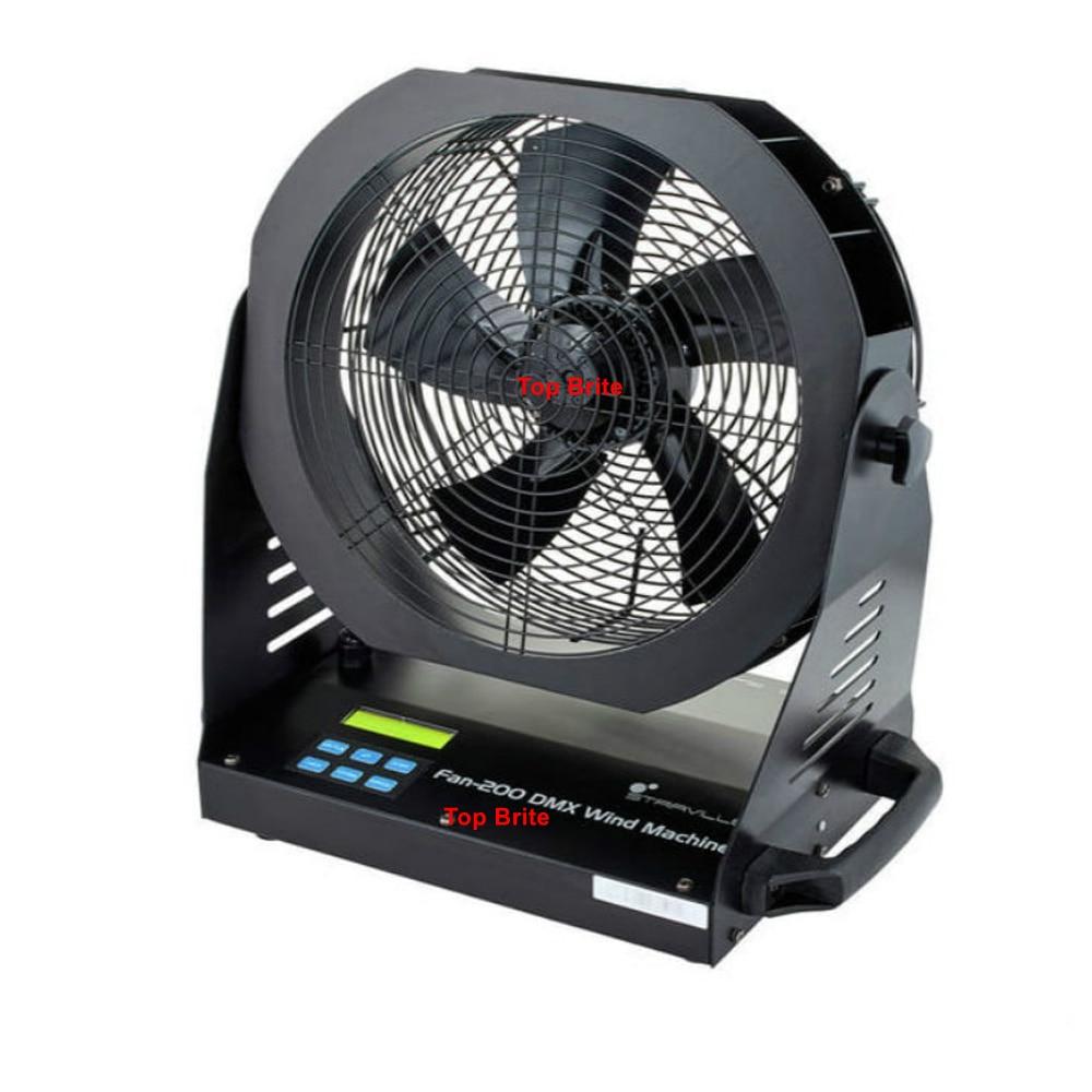 Stage Special Effect DMX Fan 200W Industry - Standard Fan Compact Fan DMX / Wireless Remote Control For Bubble / Smoke Machine