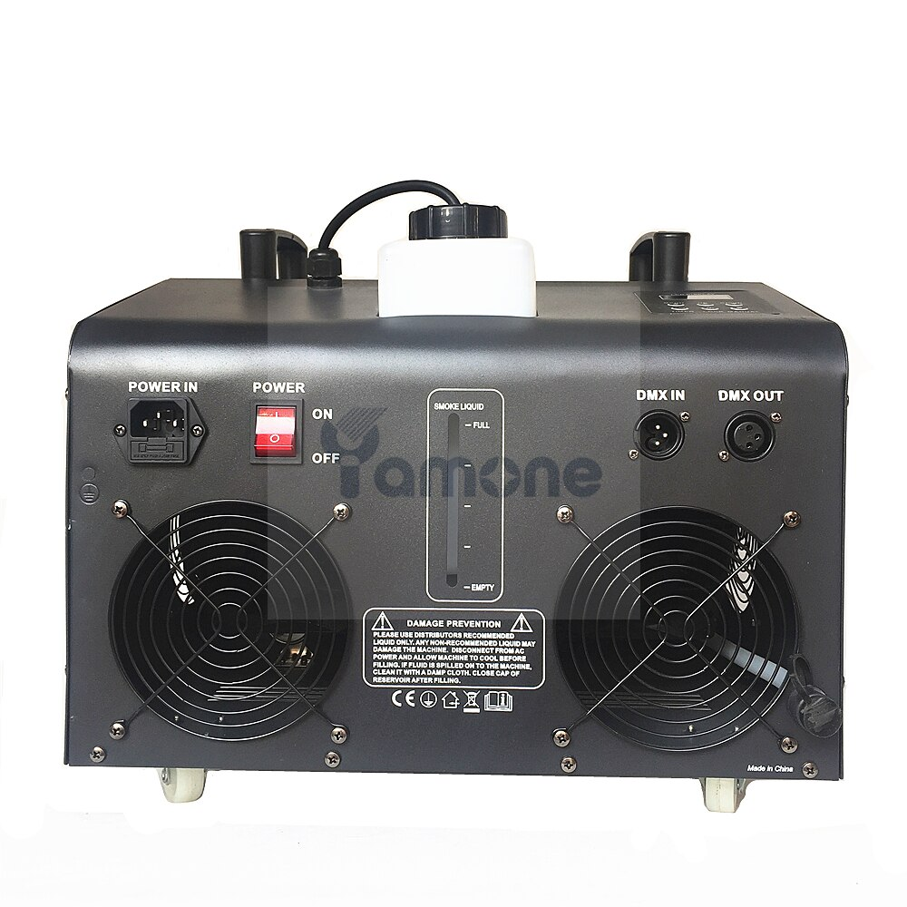 1pc/Lot 1500W LED Fog Bubble Machine Remote DMX Control Big Double Wheel Bubble Smoke Machine With 18pcs RGB 3In1 LED For Party