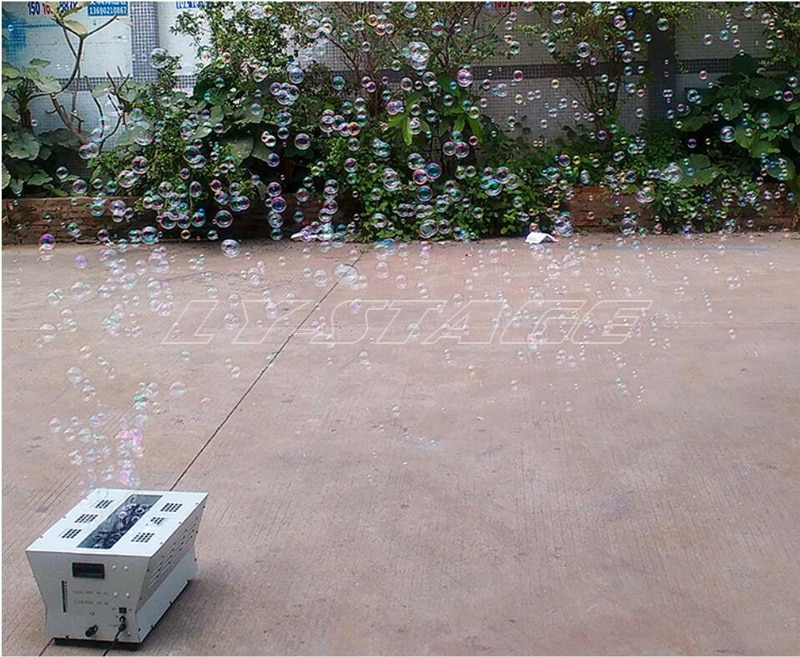 Free Shipping Christmas Party Stage Effect Equipment 450w 1L Double Wheel Bubble Machine