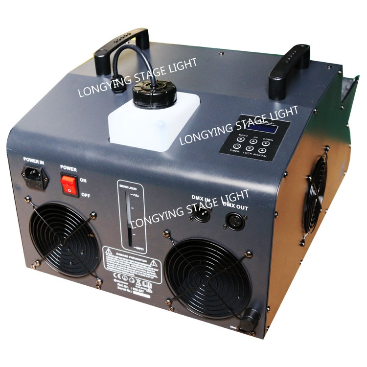 Free Shipping Professional 2000W High Output Blowing Led Bubble Machine Maker 18x3w 3in1 DMX Control Led Fog Machine