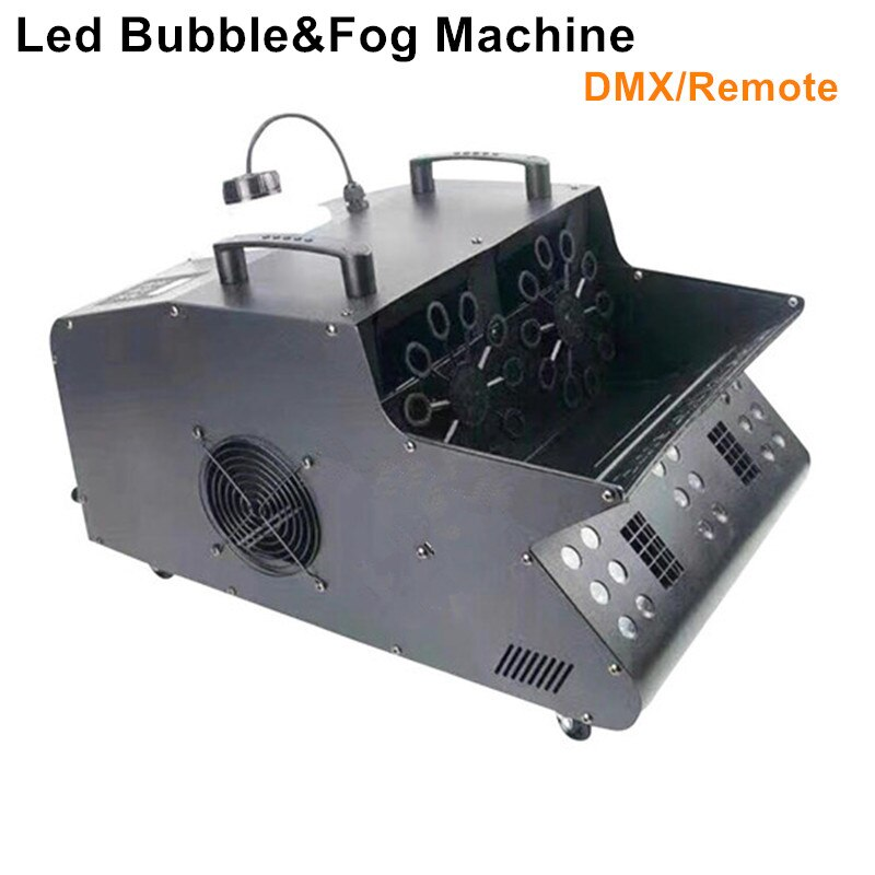 DAYBREAKLITE 2PCS/LOT stage effect led smoke bubble machine 18x3w RGB colorful mix fog bubble maker for wedding dj party event