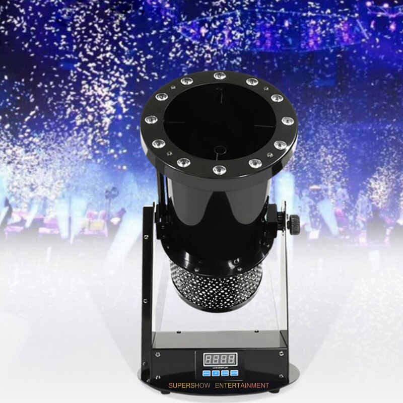 Stage effects 12x3w RGB 3in1 led Confetti Machine for Sale Wedding Confetti Cannon paper christmas decorations for home party
