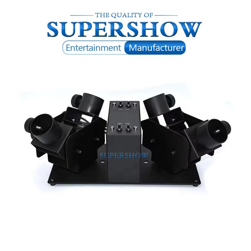 New Style 100W 4 Heads Shot Paper Cut Electric Confetti Cannon Machine for Wedding Stage Show Nightclub