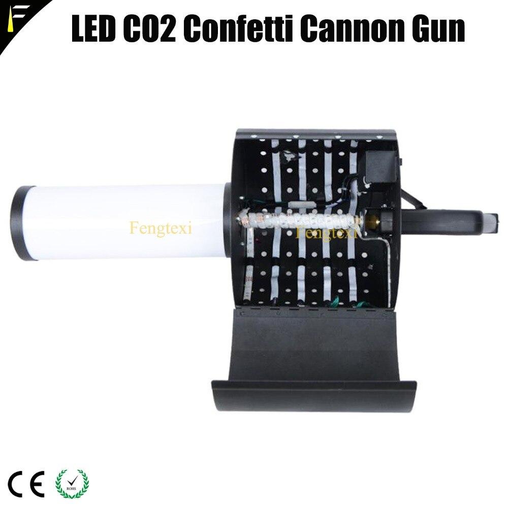 CO2 Jet Gun and Confetti Spraying 2in1 Led Dry Ice RGB Gas CO2 Shoot Jet Column Gun Confetti Paper Gun Bar Atmosphere Props
