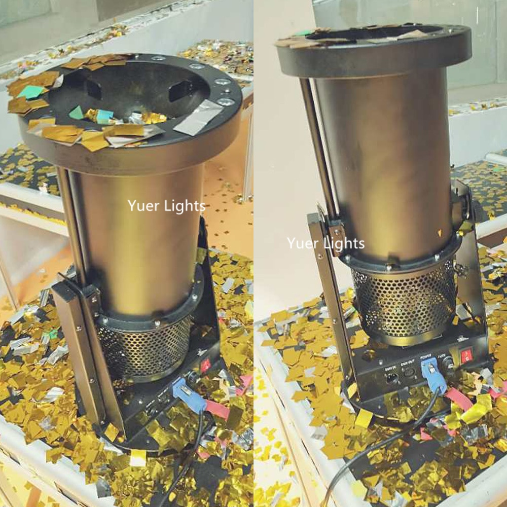 2Pcs/Lot High Quality 12X3W RGB Colors LED Paper Confetti Machine Disco DJ Equipment Stage Wedding Confetti Cannon Machine