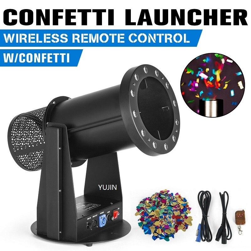 2pcs/lot LED Electric sparkler confetti blower color paper cannon machine