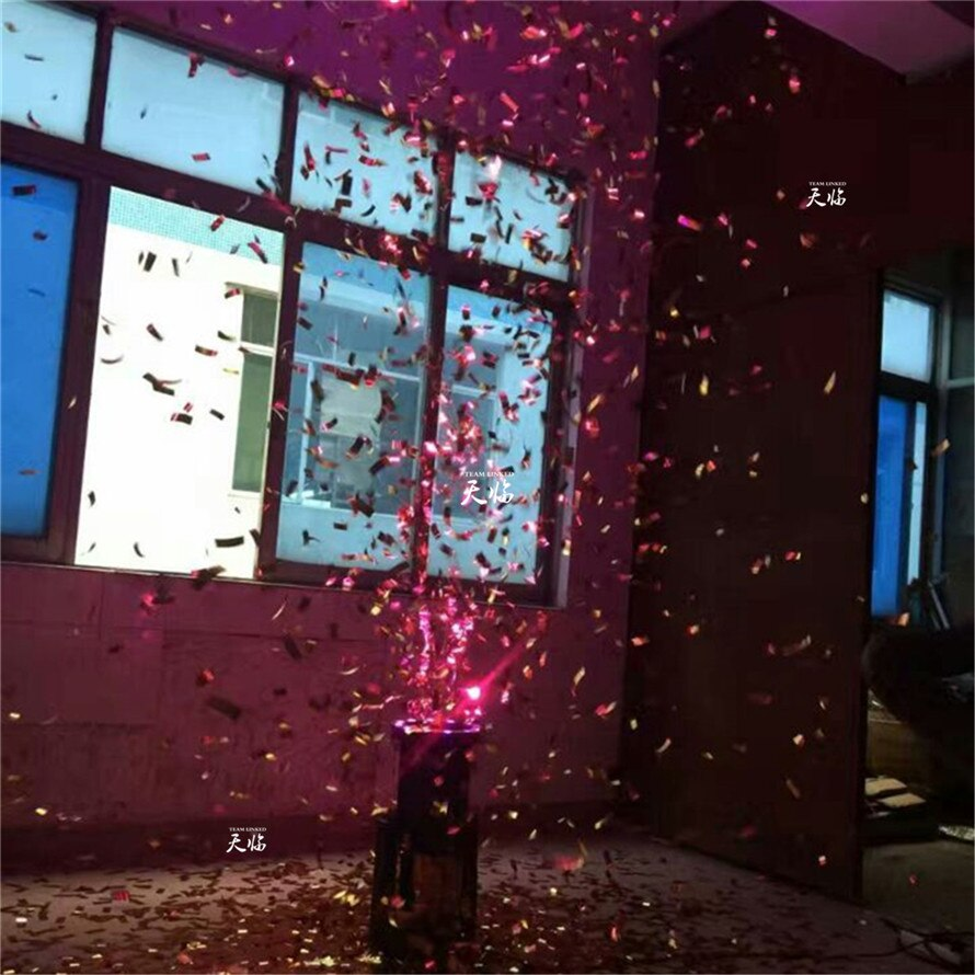 Free Shipping Wholesale ( 4 pcs  / lot ) 1200W LED Confetti Machine for Stage Light & Decoration and Wedding with Color Paper