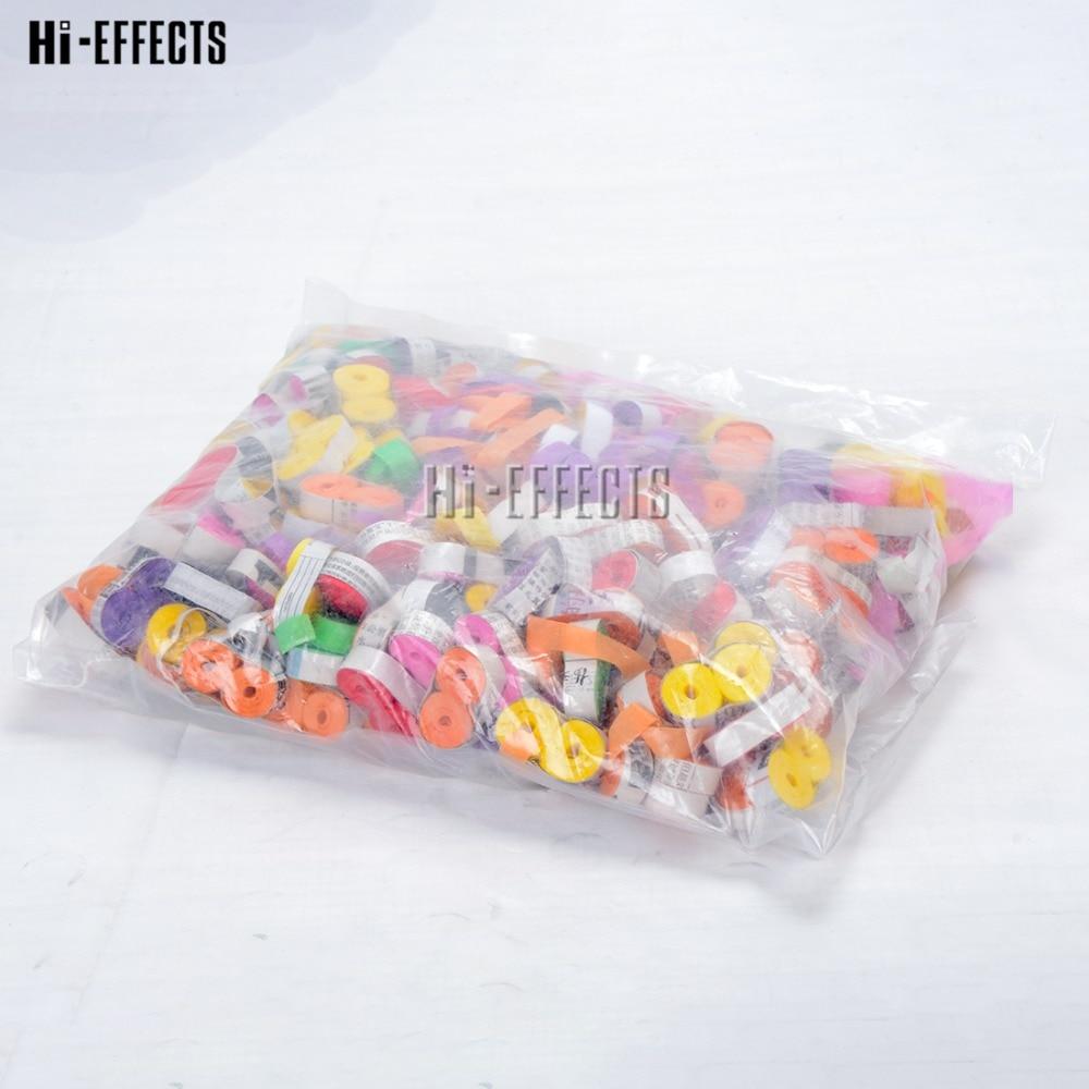 Free shipping (10KG / lot ) Mixed Colors Long Confetti Paper for Confetti Cannon Machine & Confetti Machine For Stage Effect