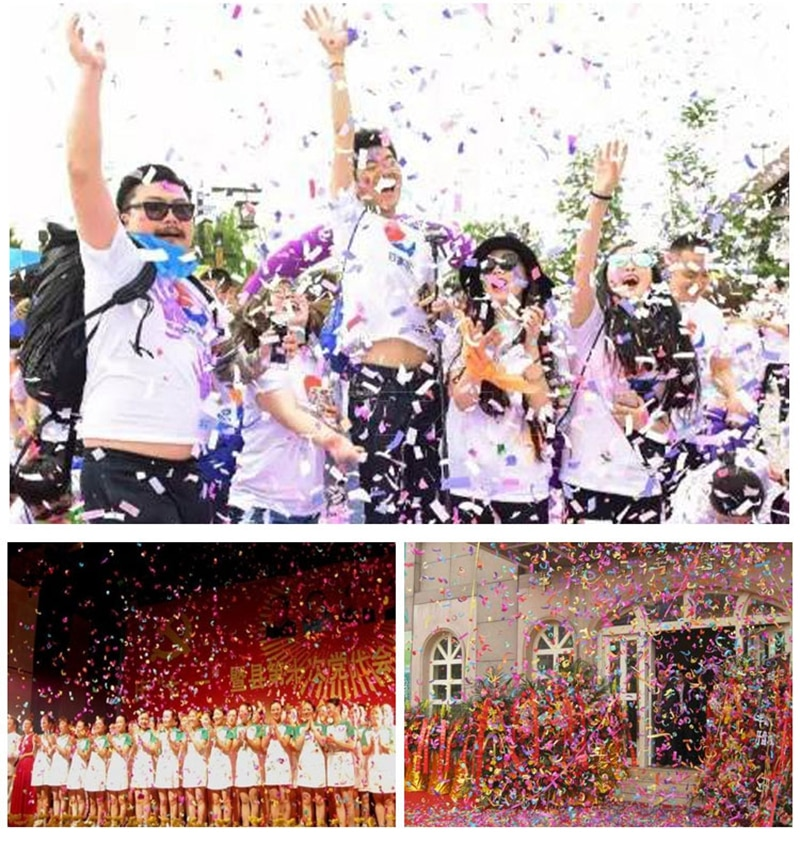 Free Shipping 4 Holder Confetti Shooter Launcher Machine Wedding Confetti Machine Confetti Cannon Remote Control