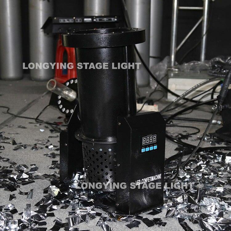 Free Shipping 12x3w Led Confetti Blower Machine DMX/Remote Paper Confetti Cannon Machine For Wedding Party