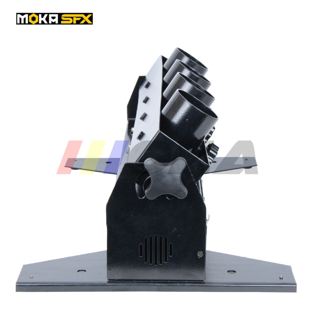 Ship from Spain Four Heads cheap Spray Confetti Machine Electric Rainbow Machine Electric Confetti Party Event Confetti Machine