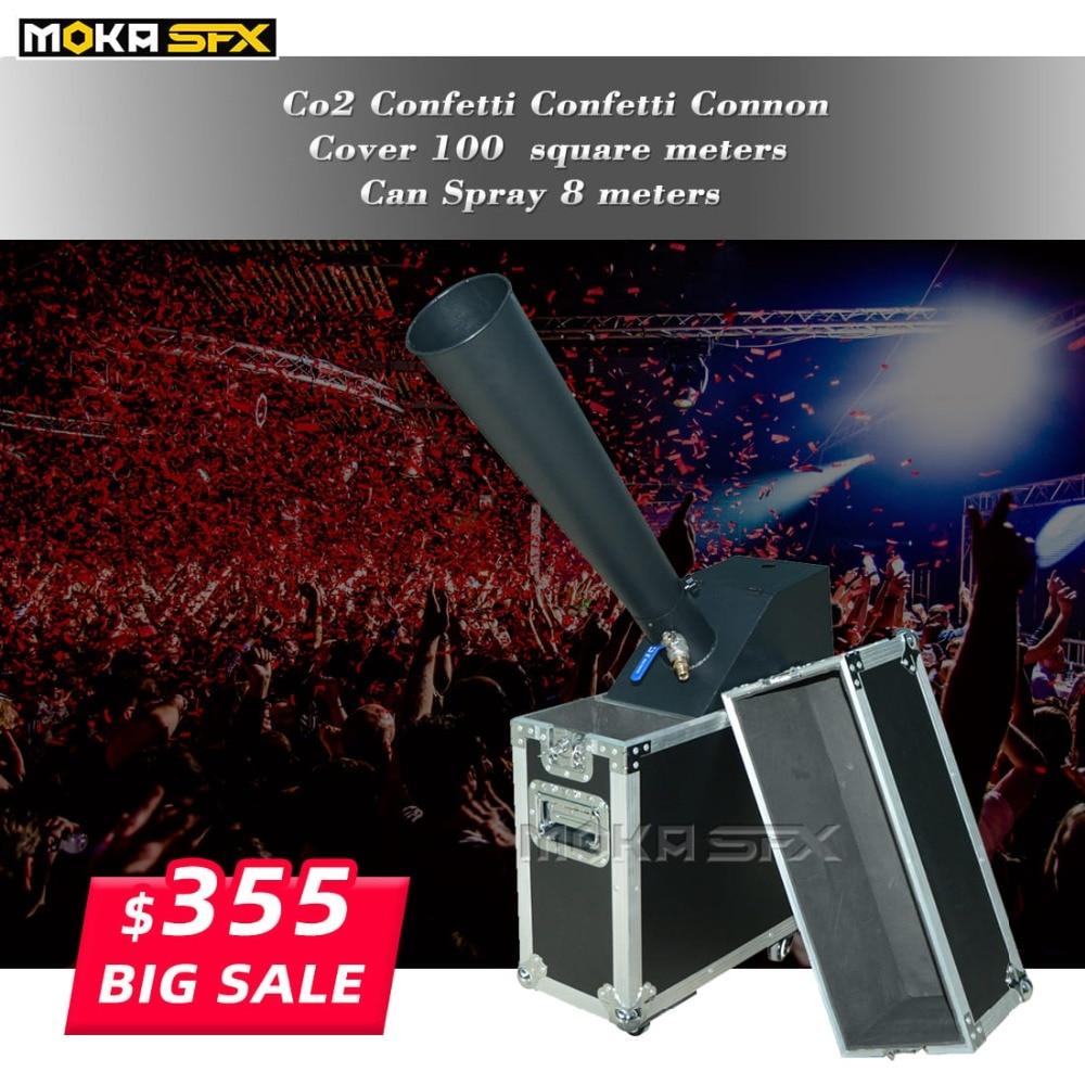 1pcs/lot CO2 Confetti Machine Whirlwind Rainbow Paper Stage Effect  Confetti Cannon For Wedding Event Disco Show