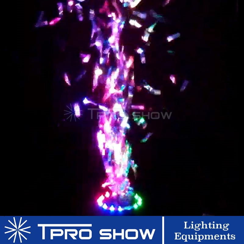 Wedding Confetti Cannon RGB LED Stage Light Confetti Machine Powerful Paper Blower Comfetti Shooter Effect DJ FX For Wholesale
